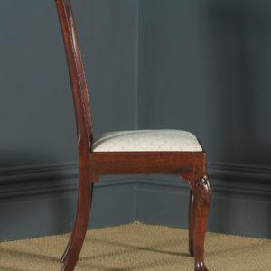 Antique English Georgian Chippendale Mahogany Ladies Dining / Side / Office Desk Chair (Circa 1780) - yolagray.com