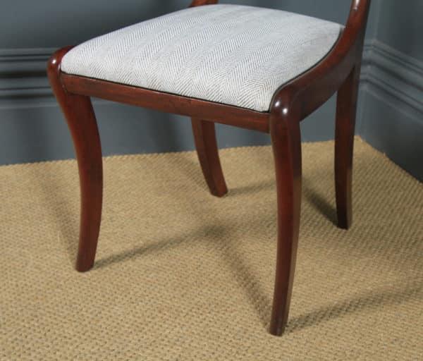 Antique English Georgian Regency Set of Five 5 Mahogany Rope Twist Dining Chairs (Circa 1820) - yolagray.com