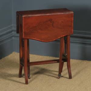 Small Antique English Edwardian Sutherland Mahogany Occasional / Side Table (Circa 1901) - yolagray.com