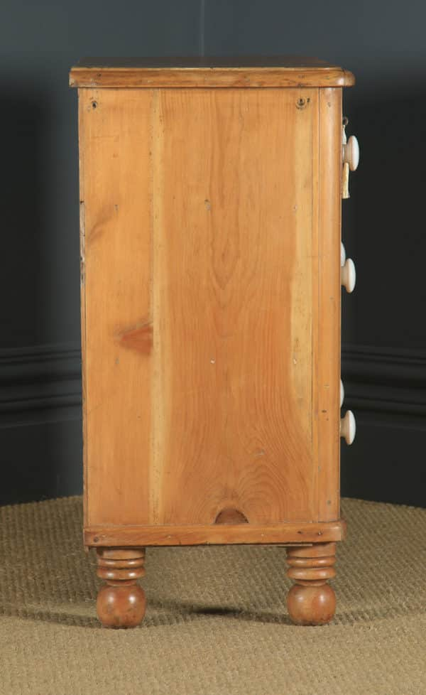 Small Antique English Victorian Pine Chest of Drawers (Circa 1860) - yolagray.com