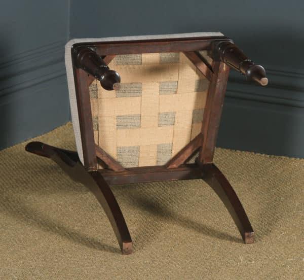 Antique English William IV Set of Six Mahogany Bar Back Dining Chairs (Circa 1835) - yolagray.com