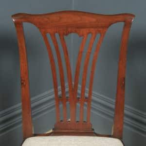Antique English Georgian Chippendale Mahogany Gentleman's Dining / Side / Office Desk Chair (Circa 1780) - yolagray.com