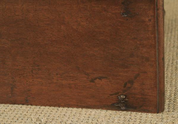 Antique English Late 17th Century Oak Occasional Hall Writing Lowboy Side Table (Circa 1680) - yolagray.com