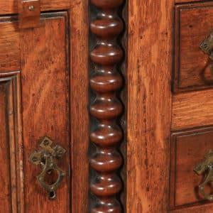 Antique Welsh Anglesey Breakfront Georgian Oak, Mahogany & Fruitwood Side board Dresser Base (Circa 1820) - yolagray.com