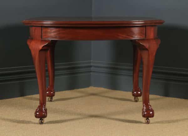 Antique English Victorian Mahogany Extending Eight Seat 8ft Dining Table by Ashton Leach & Cumberbirch Ltd., Rochdale (Circa 1890) - yolagray.com