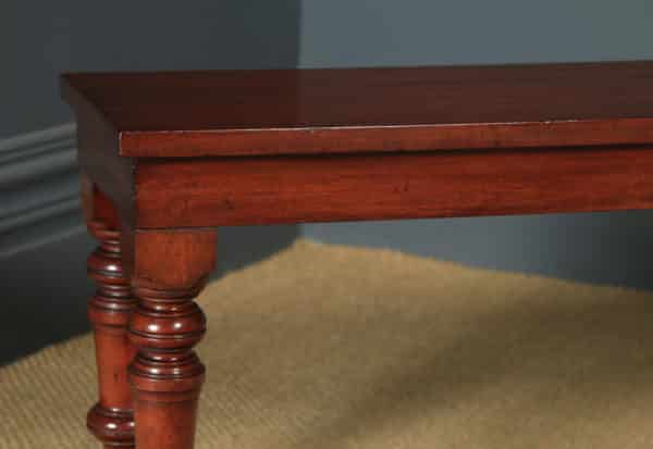 Antique English Victorian Mahogany Window / Hall Bench / Stool / Seat (Circa 1850) - yolagray.com