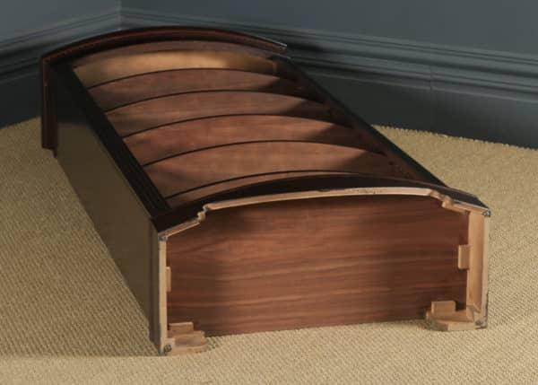 English Georgian Style Mahogany Open Bow Front Tall Bookcase (Circa 1980) - yolagray.com
