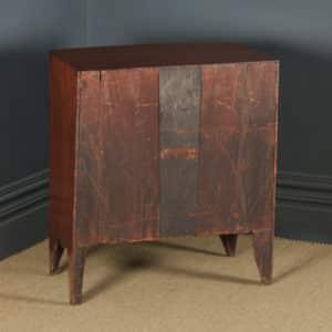 Small Antique English Georgian Regency Mahogany Bow Front Chest of Drawers (Circa 1820) - yolagray.com