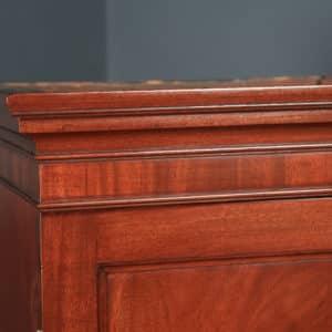 Antique English Georgian Figured Mahogany Linen Press Chest Wardrobe (Circa 1800) - yolagray.com
