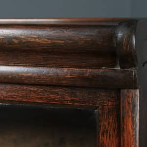 Antique English George V Globe Wernicke Oak Four Tier Glazed Waterfall Bookcase (Circa 1920) - yolagray.com