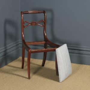 Antique English Georgian Regency Mahogany Rope Twist Dining Chair (Circa 1820) - yolagray.com