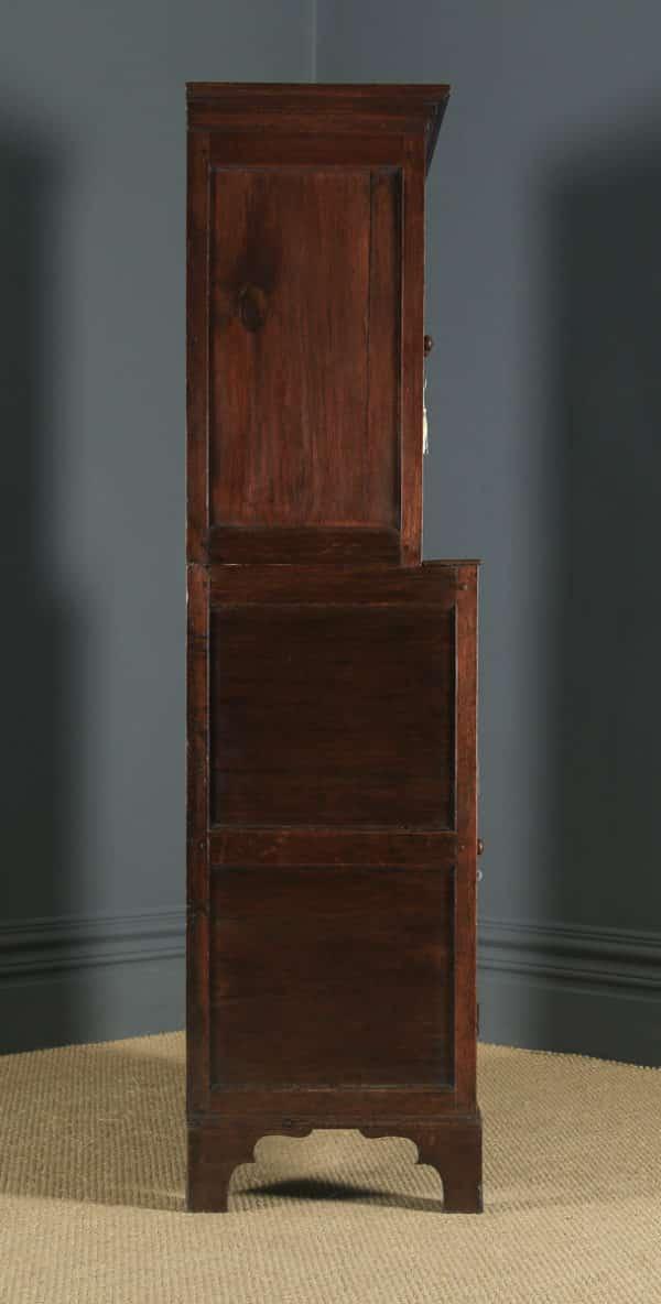 Antique Welsh 18th Century Georgian Oak Livery Press Housekeepers Cupboard (Circa 1780) - yolagray.com