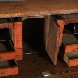 Antique English 18th Century Georgian Oak & Mahogany Office Bureau Desk (Circa 1780) - yolagray.com