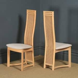 Contemporary Danish Set of 8 Eight Beech Actona Kitchen Dining Chairs (Circa 1990) - yolagray.com