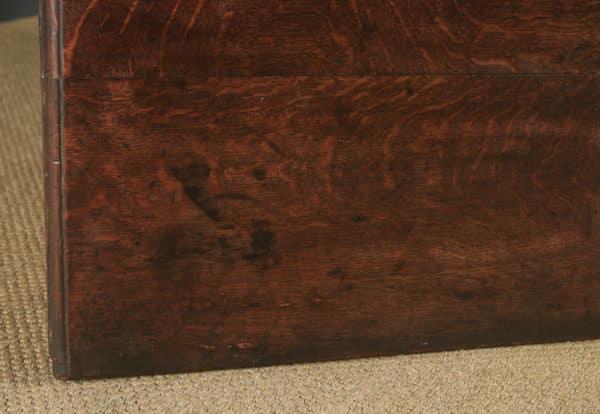 Antique English 18th Century Oak Geometric Mule Chest / Blanket Box / Trunk with Drawer (Circa 1710) - yolagray.com
